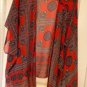 Papermoon Other - Stitch Fix Papermoon Mauna Kimono red
